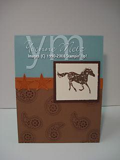 Horse B-Day Card