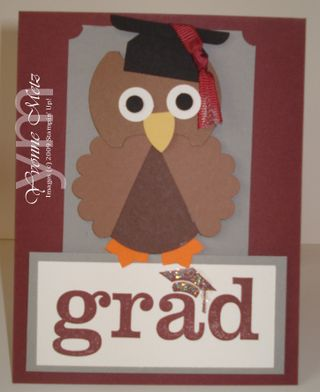 Grad Owl Gift Card Holder