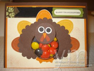 Turkey Treat Cup Card