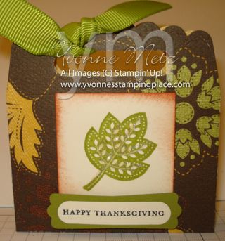 Thanksgiving Scallop Envelope Box