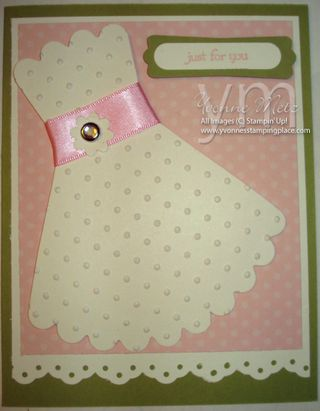 Just for you Dress Card
