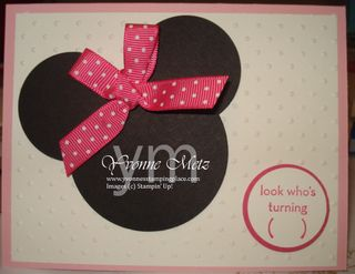 Minnie Big Invite or bday card
