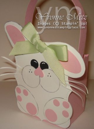 Bunny Top Note Favor Box