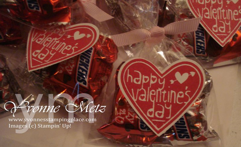 Valentines Snickers close up