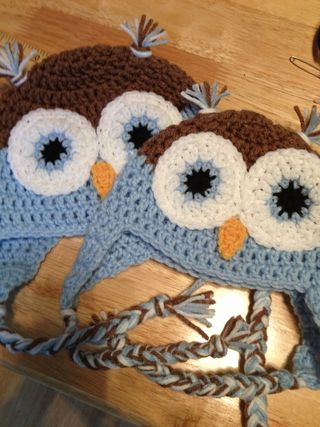 Baby Blue Owl Hats